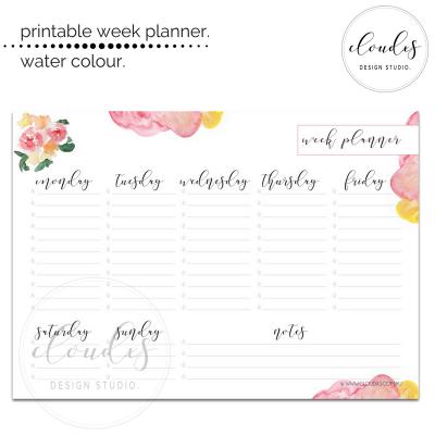 Week Planner - Water Colour