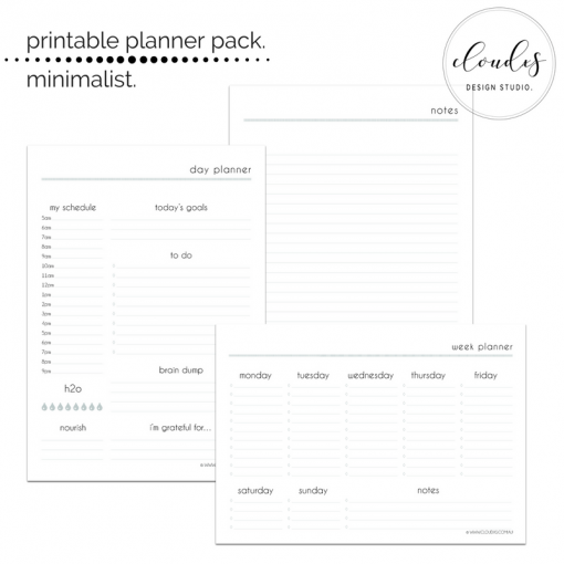 Printable Pack - Minimalist