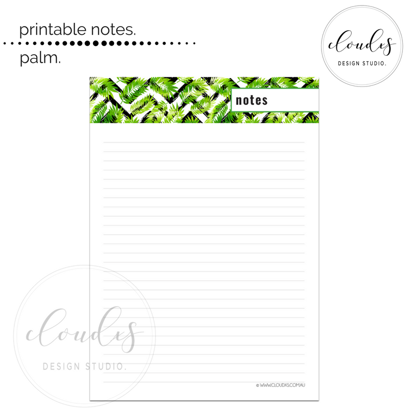 Printable_Notes_Palm